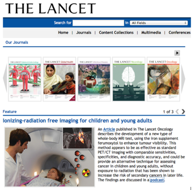 Daldrup-Link lab research featured on the website of 'The Lancet'